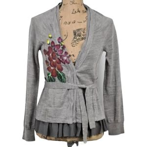 Anthropologie Knitted and Knotted Sweater Cardigan